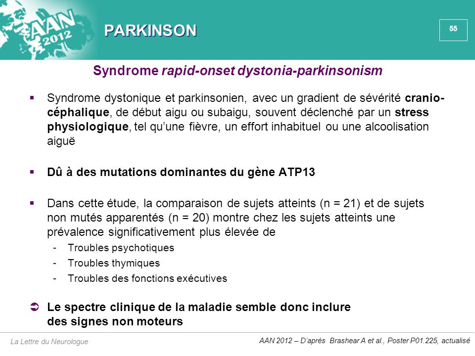 Syndrome rapid-onset dystonia-parkinsonism