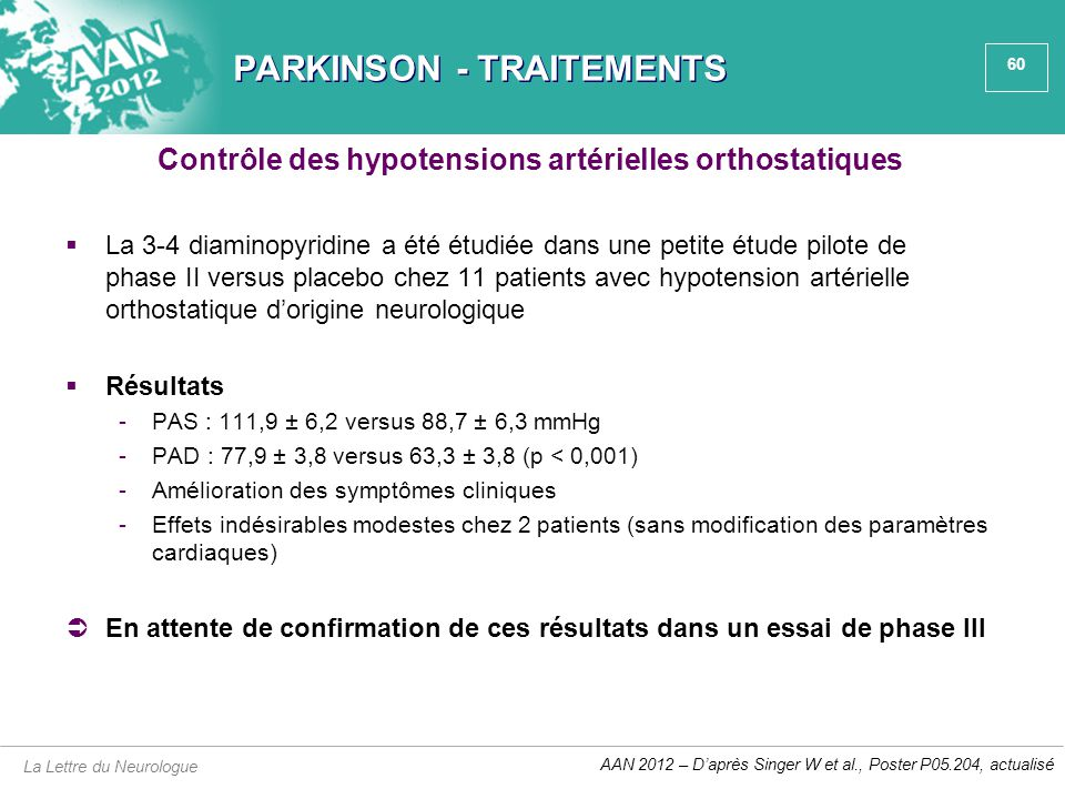 PARKINSON - TRAITEMENTS