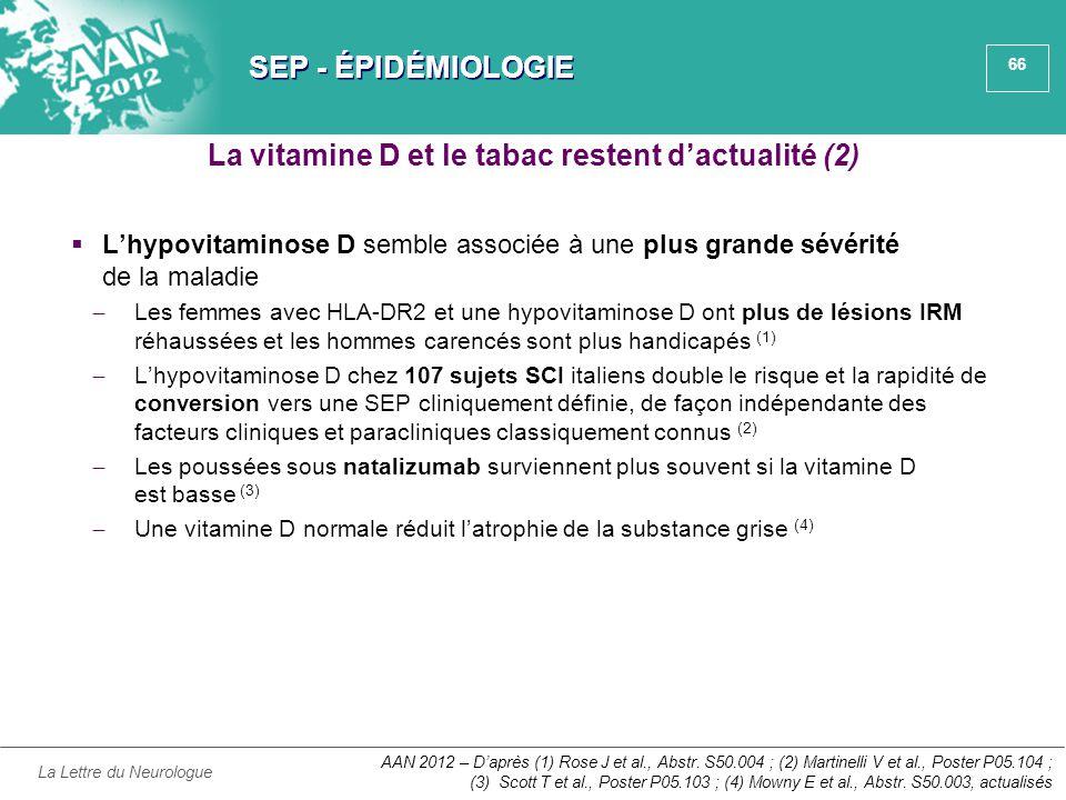 La vitamine D et le tabac restent d'actualité (2)