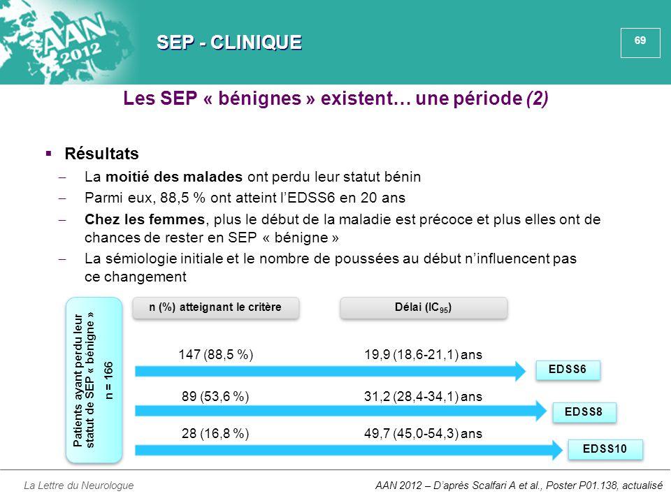 Les SEP « bénignes » existent… une période (2)
