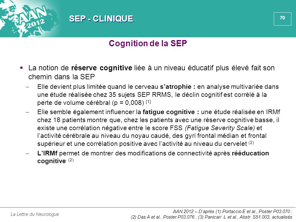 SEP - CLINIQUE Cognition de la SEP