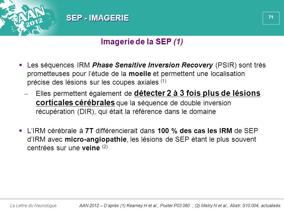 SEP - IMAGERIE Imagerie de la SEP (1)