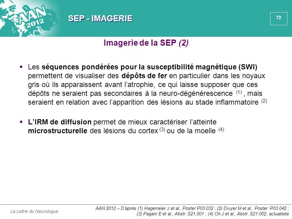 SEP - IMAGERIE Imagerie de la SEP (2)