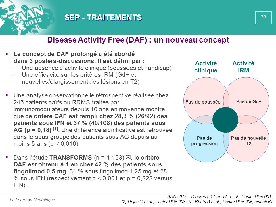 Disease Activity Free (DAF) : un nouveau concept