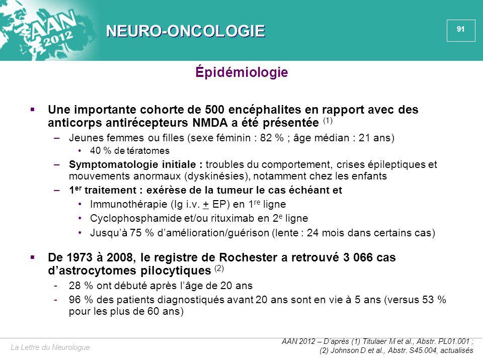 NEURO-ONCOLOGIE Épidémiologie