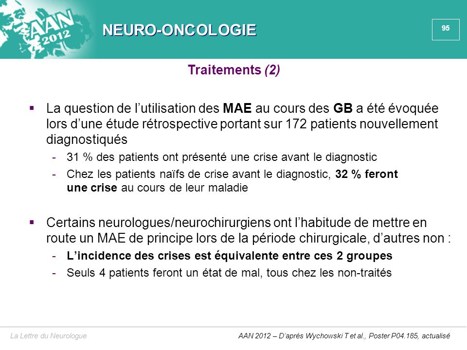 NEURO-ONCOLOGIE Traitements (2)