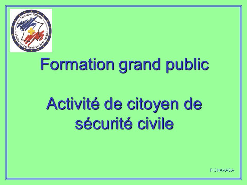 Formation grand public Activité de citoyen de sécurité civile