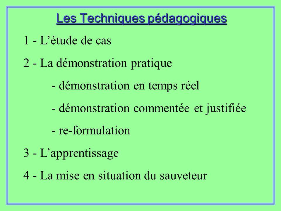 Les Techniques pédagogiques