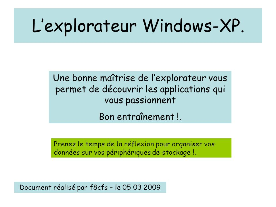L'explorateur Windows-XP.