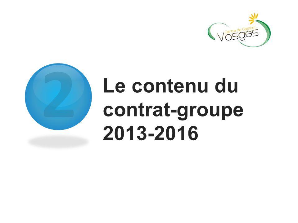 Le contenu du contrat-groupe 2013-2016