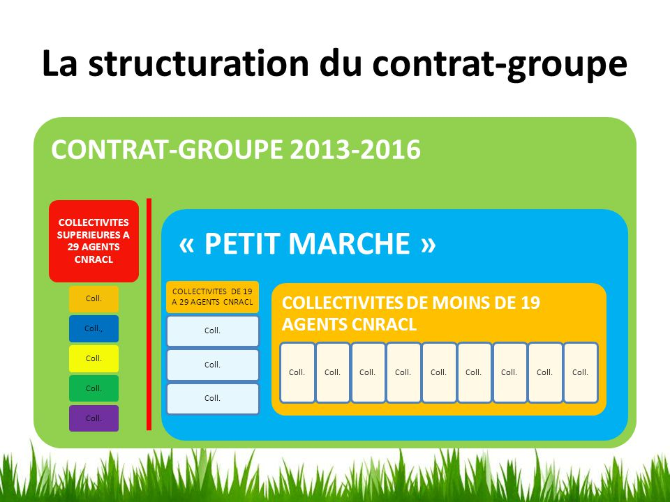La structuration du contrat-groupe