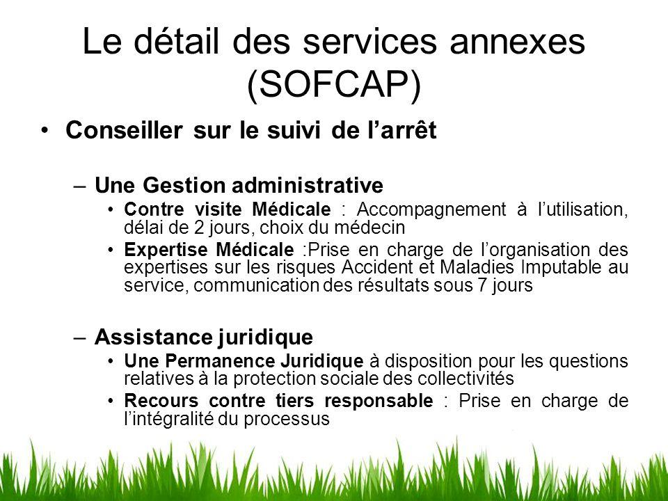 Le détail des services annexes (SOFCAP)