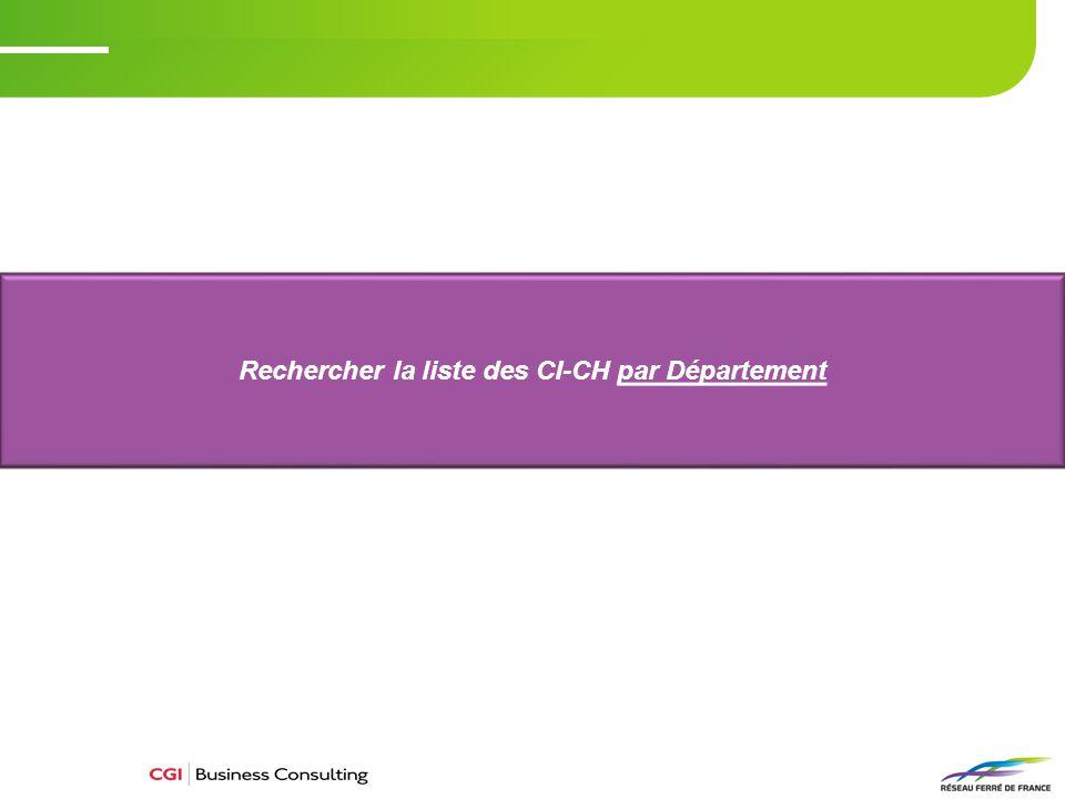 Rechercher la liste des CI-CH par Département