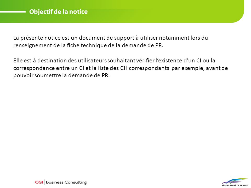 Objectif de la notice