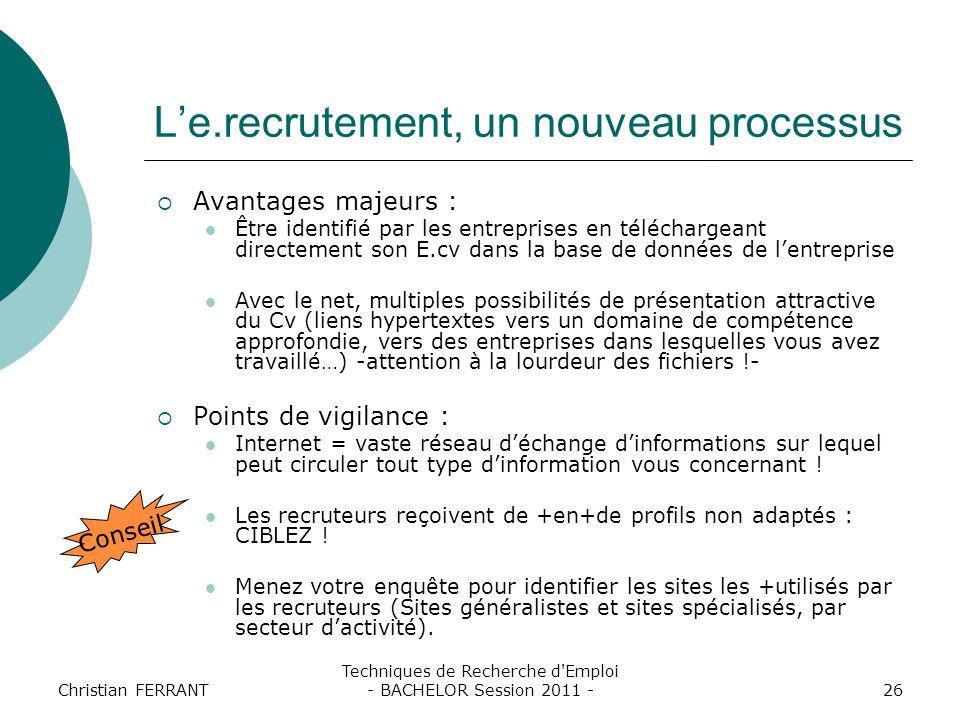 L'e.recrutement, un nouveau processus