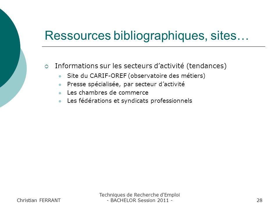 Techniques de recherche d 39 emploi bachelor session ppt - Chambre de commerce bordeaux recrutement ...