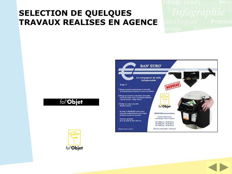 SELECTION DE QUELQUES TRAVAUX REALISES EN AGENCE
