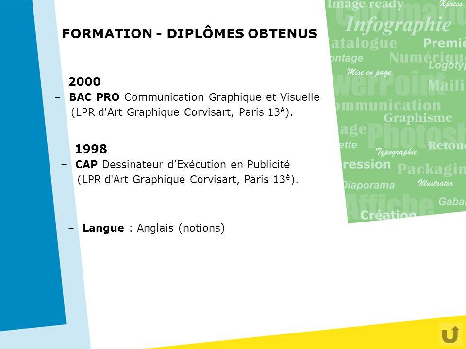 FORMATION - DIPLÔMES OBTENUS