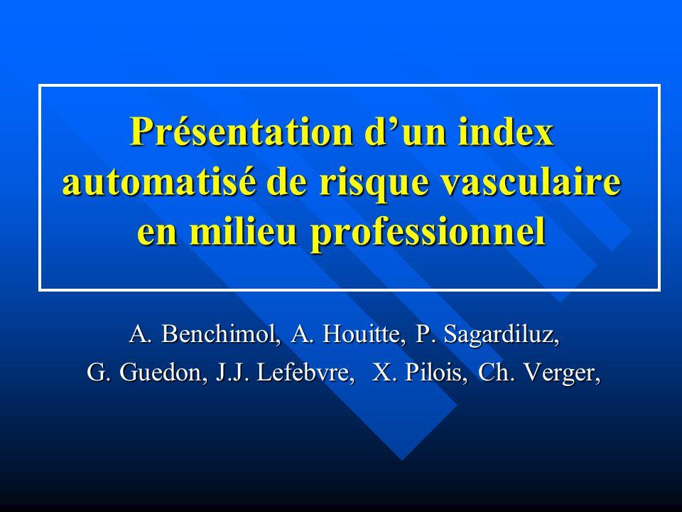 Présentation d'un index automatisé de risque vasculaire en milieu professionnel