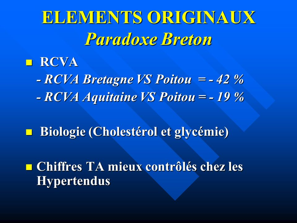 ELEMENTS ORIGINAUX Paradoxe Breton