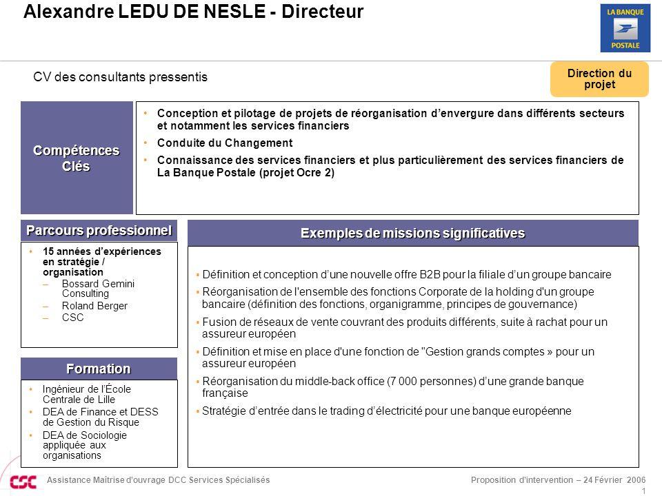 Alexandre LEDU DE NESLE - Directeur