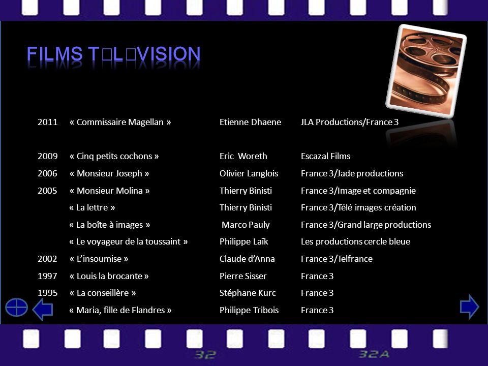Films télévision 2011 « Commissaire Magellan » Etienne Dhaene JLA Productions/France 3.