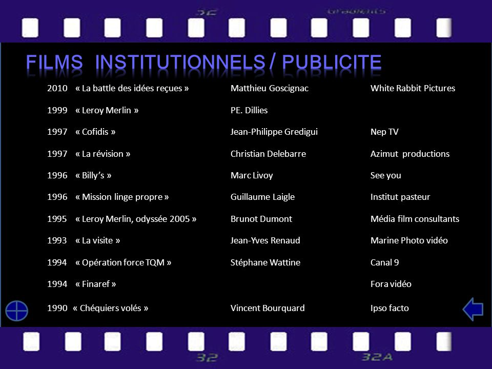 Films institutionnels / PUBLICITE
