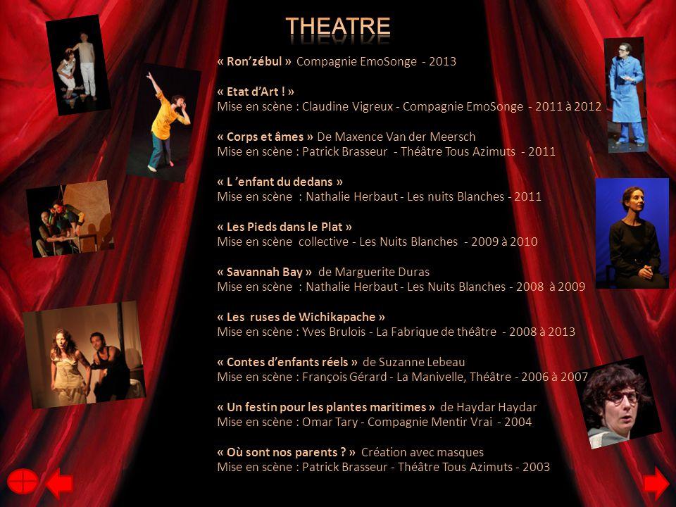 Theatre « Ron'zébul » Compagnie EmoSonge - 2013 « Etat d'Art ! »
