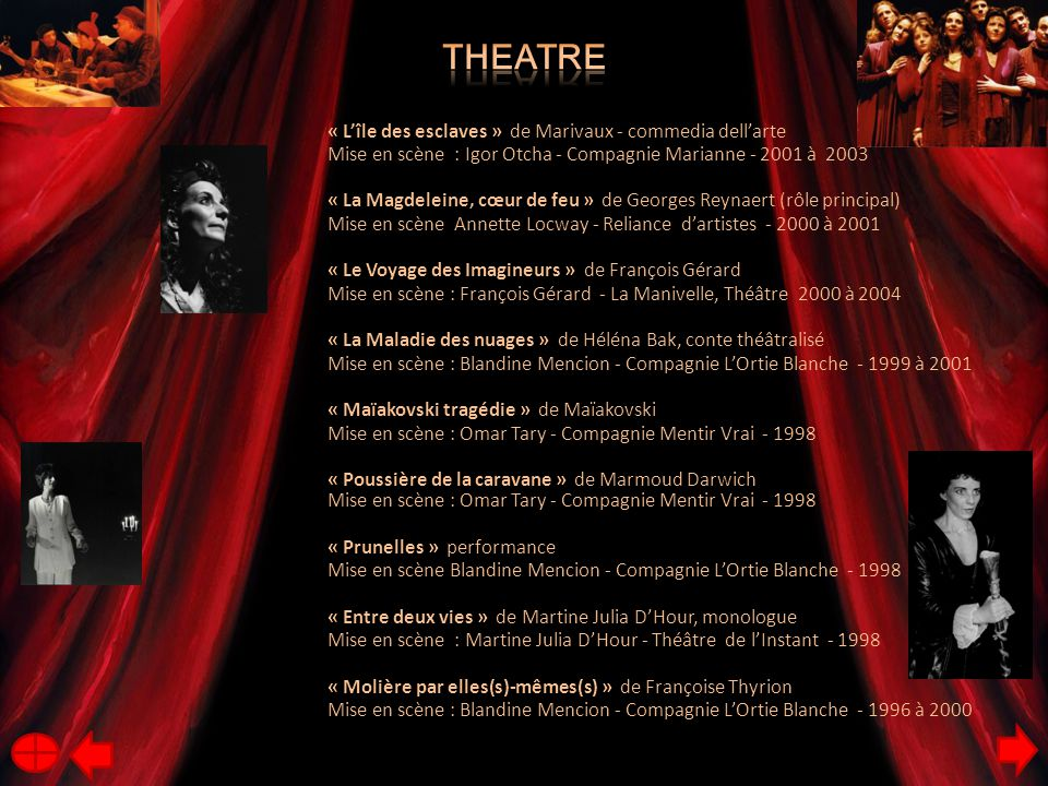 Theatre « L'île des esclaves » de Marivaux - commedia dell'arte