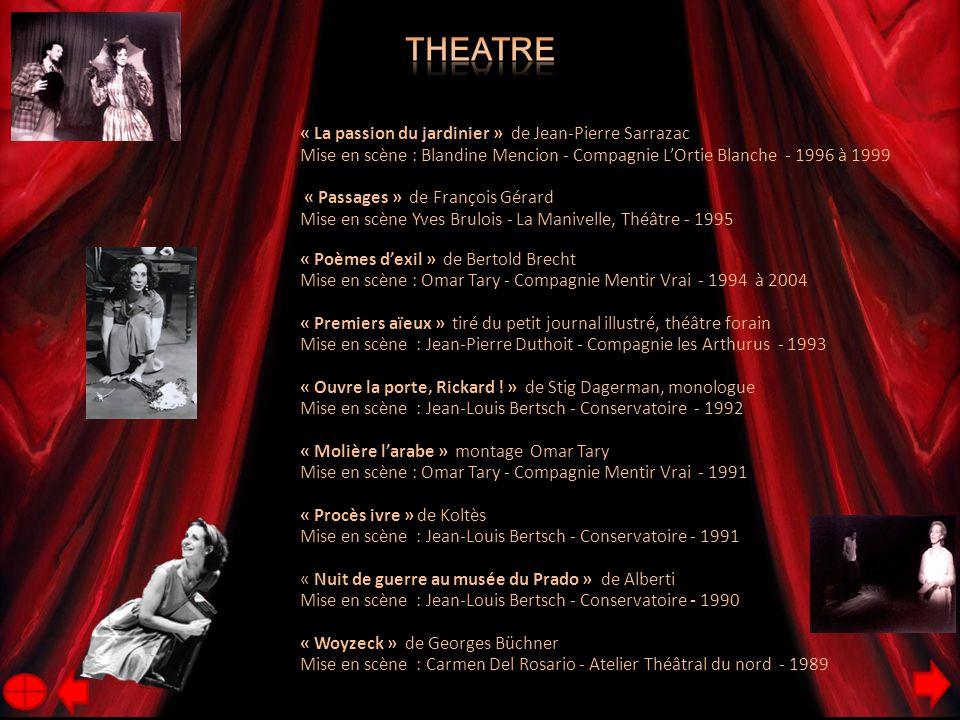 Theatre « La passion du jardinier » de Jean-Pierre Sarrazac