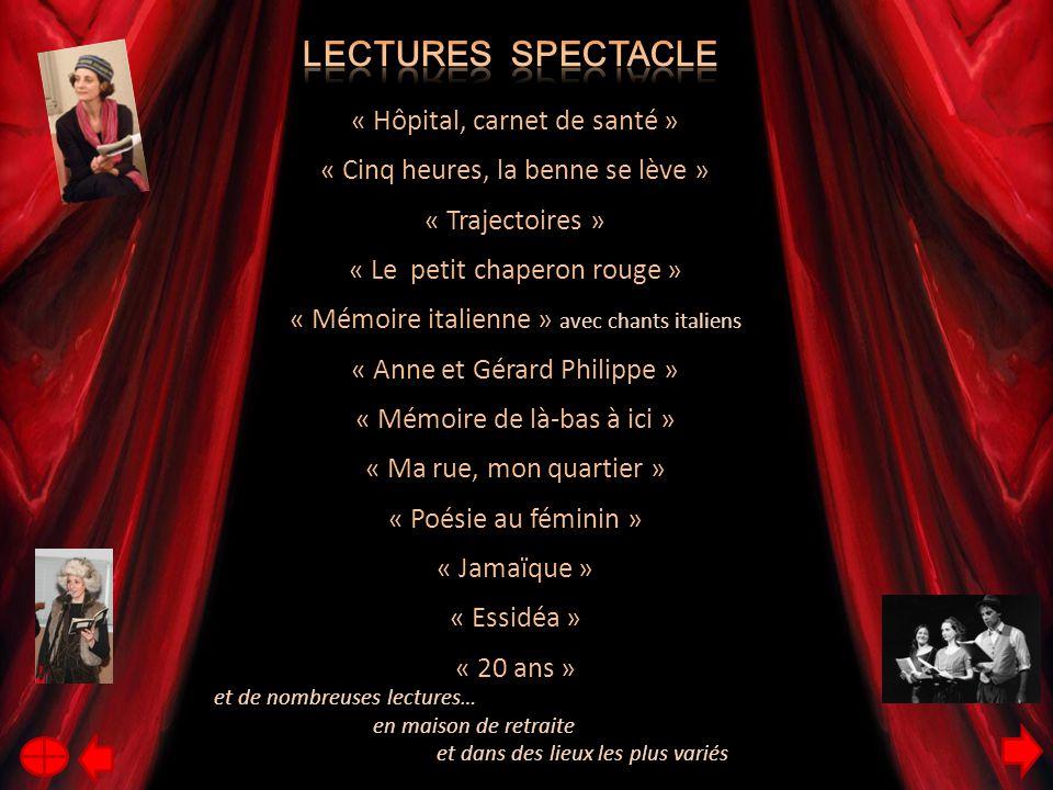 Lectures spectacle « Hôpital, carnet de santé »