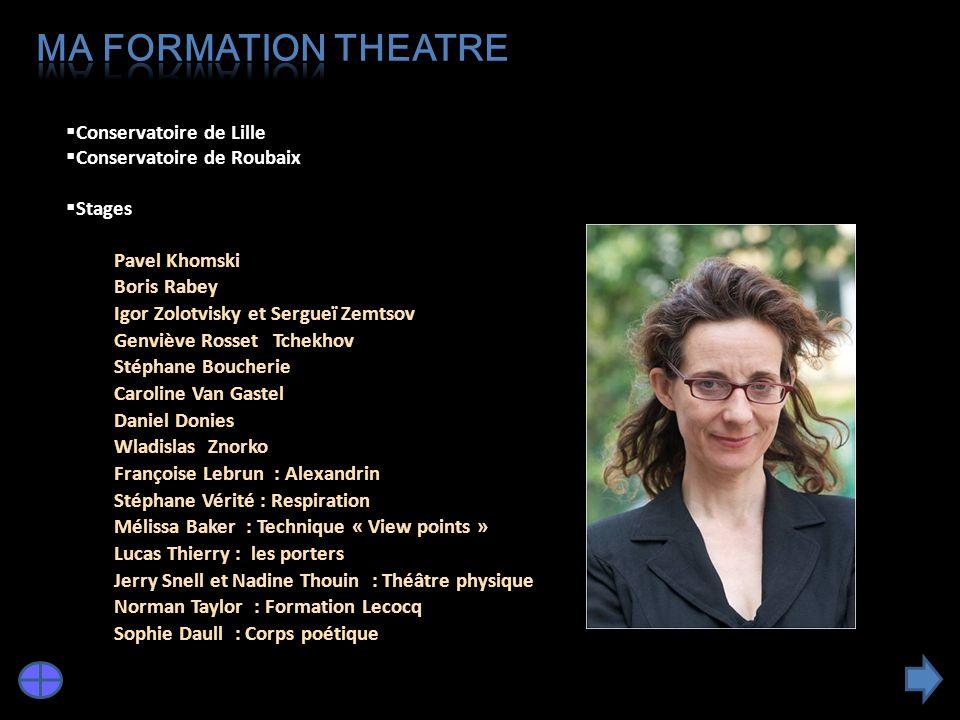 Ma formation THEATRE Conservatoire de Lille Conservatoire de Roubaix