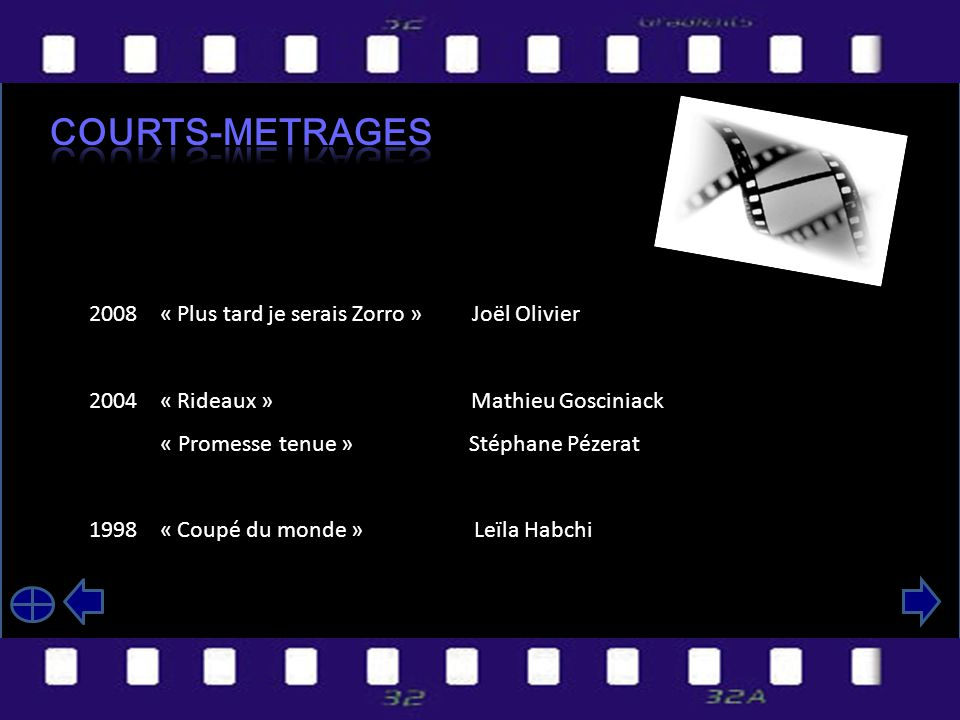 Courts-mEtrageS 2008 « Plus tard je serais Zorro » Joël Olivier