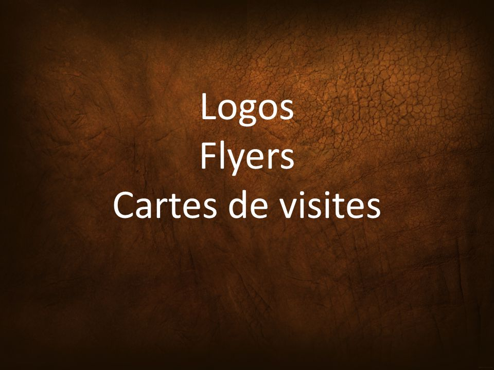 Logos Flyers Cartes De Visites