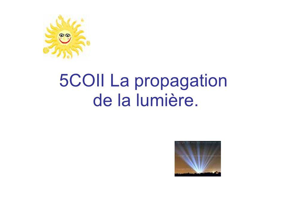 5COII La propagation de la lumière.