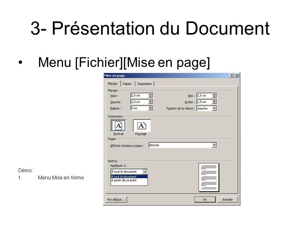 3- Présentation du Document