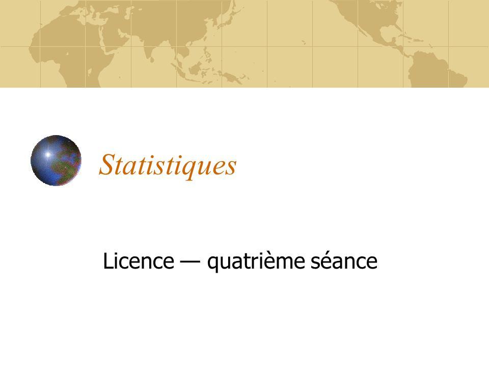 Licence — quatrième séance