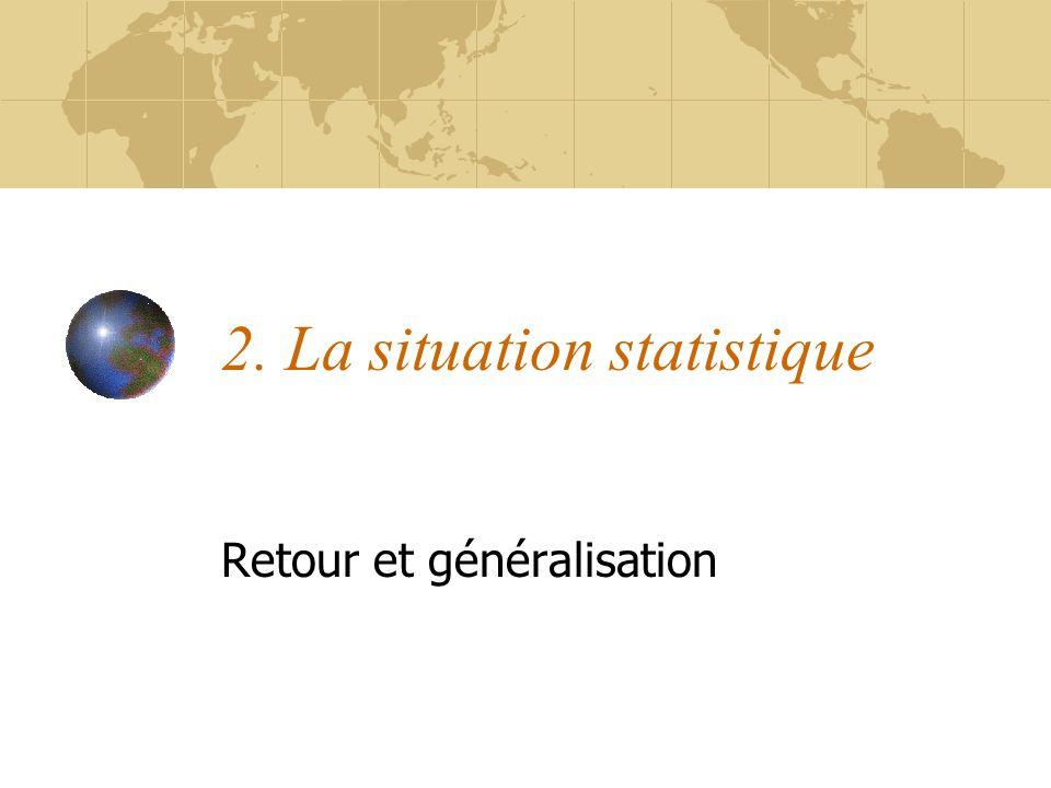 2. La situation statistique