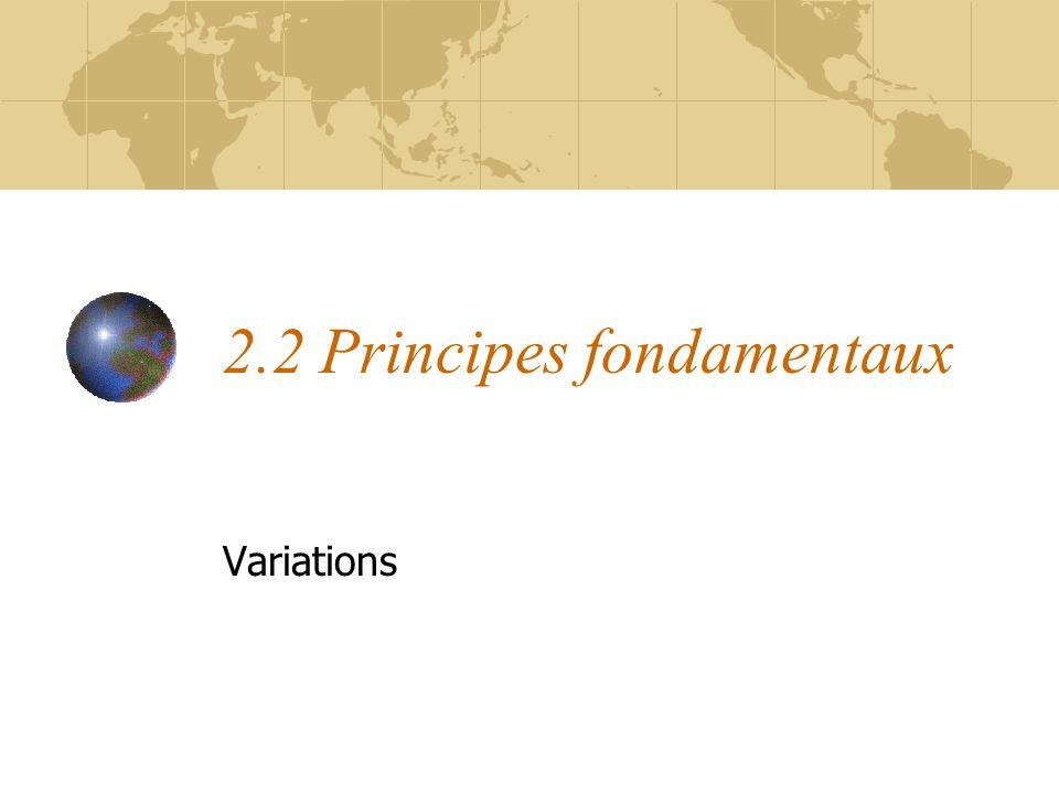 2.2 Principes fondamentaux