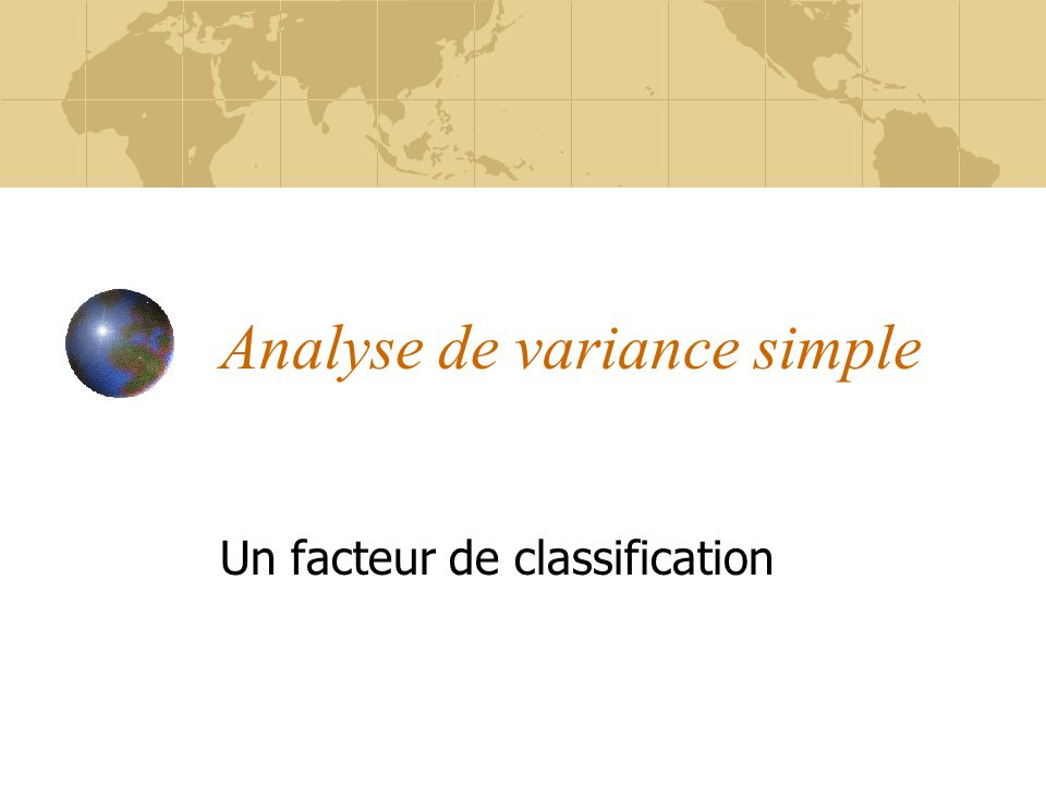 Analyse de variance simple