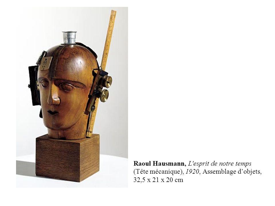 Raoul Hausmann, L esprit de notre temps (Tête mécanique), 1920, Assemblage d'objets, 32,5 x 21 x 20 cm
