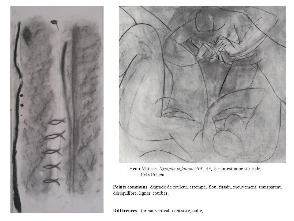 Henri Matisse, Nymphe et faune, 1935-43, fusain estompé sur toile, 154x167.cm