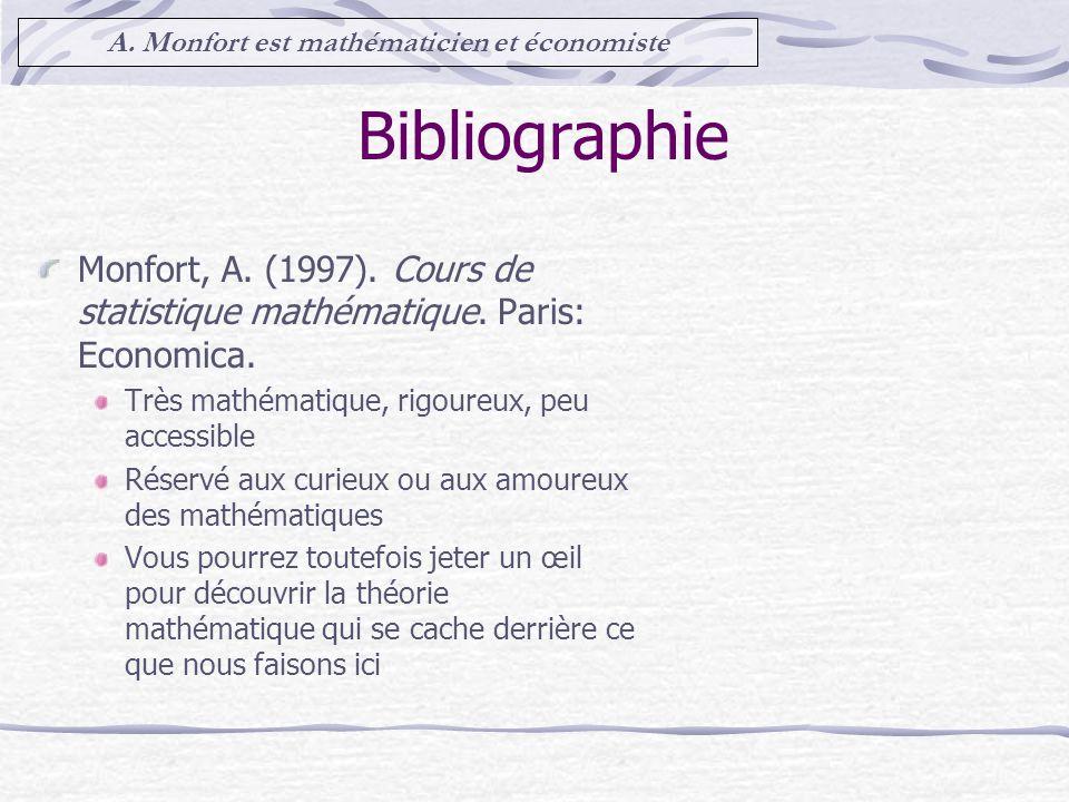 A. Monfort est mathématicien et économiste