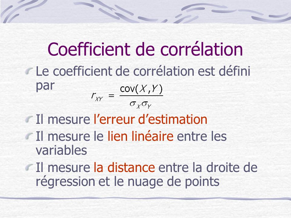 Coefficient de corrélation