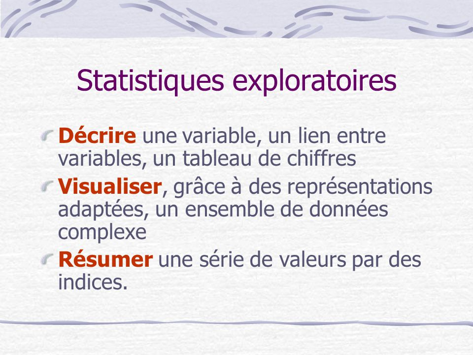 Statistiques exploratoires