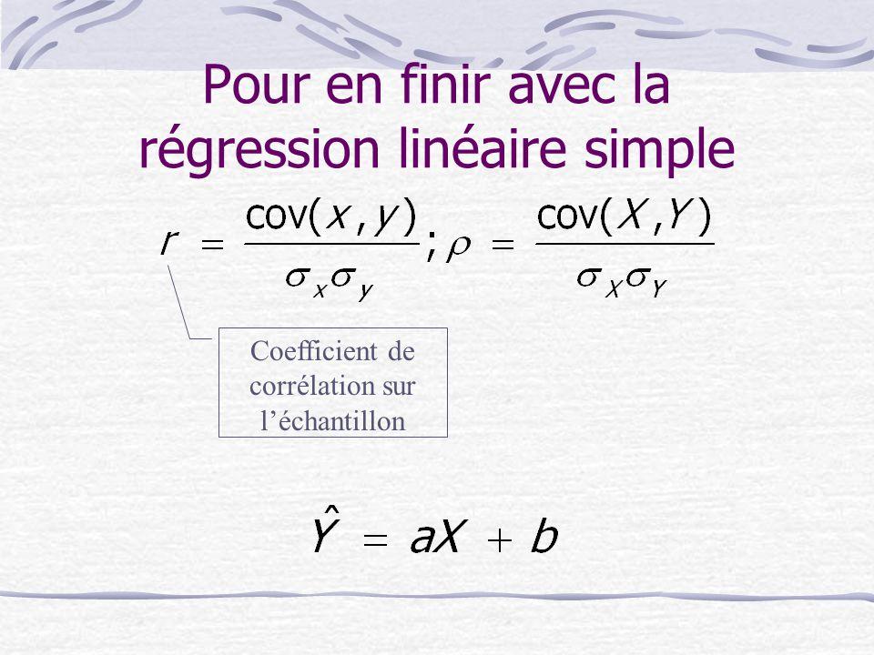 Pour en finir avec la régression linéaire simple