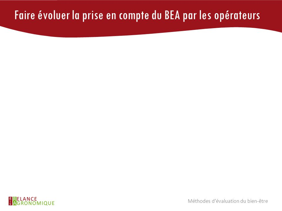 Faire évoluer la prise en compte du BEA par les opérateurs