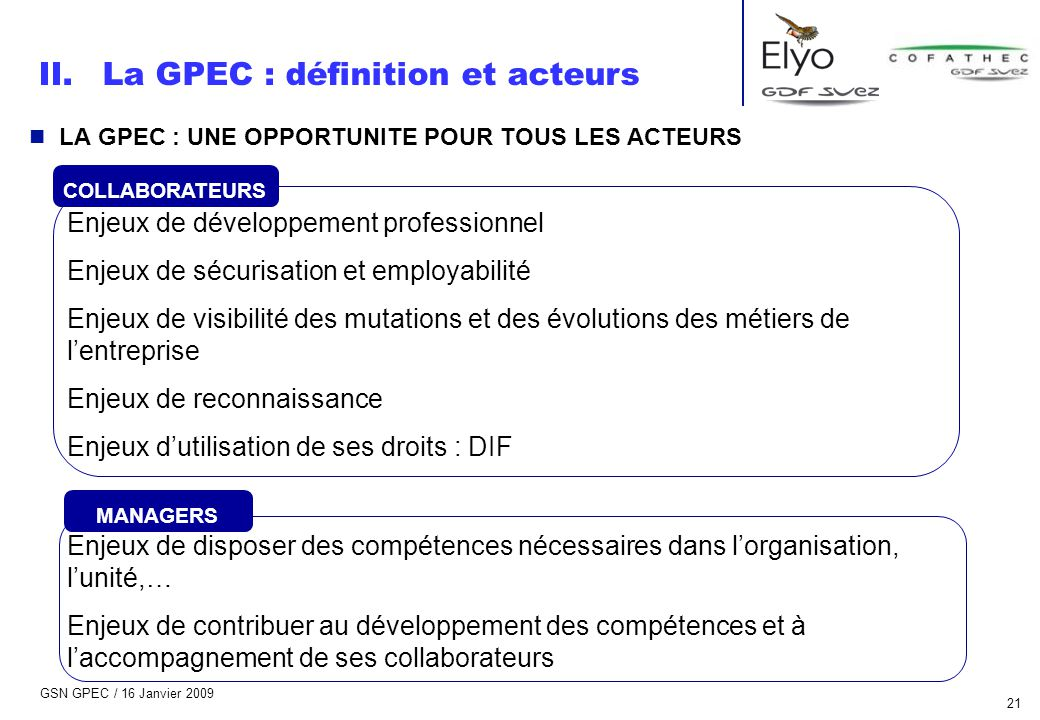 La GPEC : définition et acteurs