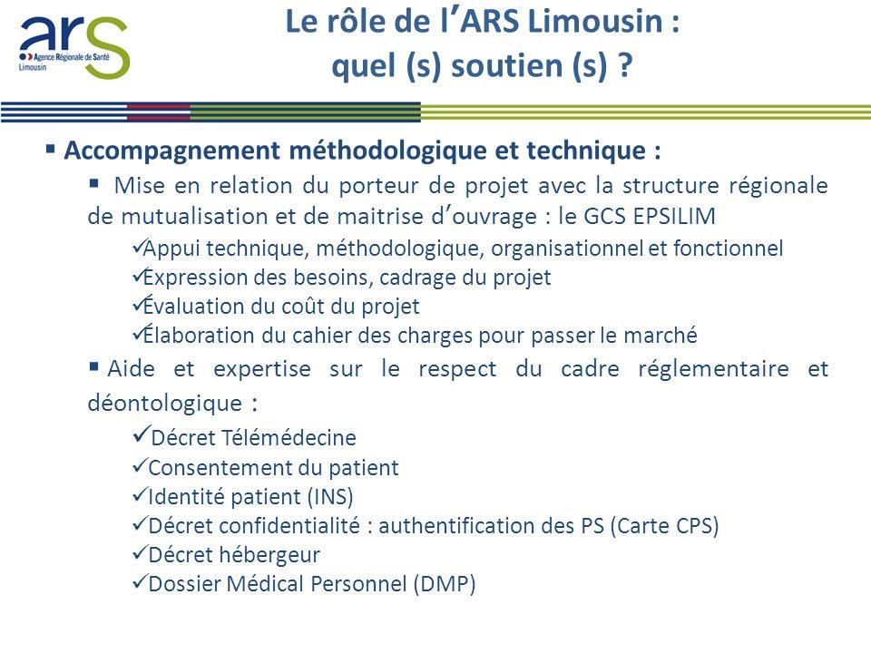 Le rôle de l'ARS Limousin : quel (s) soutien (s)