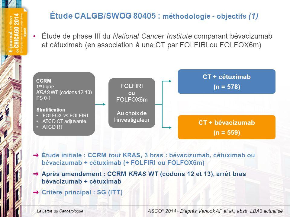 Étude CALGB/SWOG 80405 : caractéristiques des patients (2)